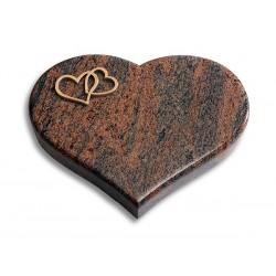 47 Grabstein Coeur/Twillight-Red (Bronze Herzen)