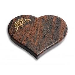 49 Grabstein Coeur/Twillight-Red (Bronze Rose 1)