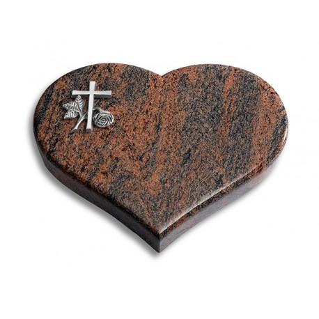 51 Grabstein Coeur/Twillight-Red (Alu Kreuz 1)
