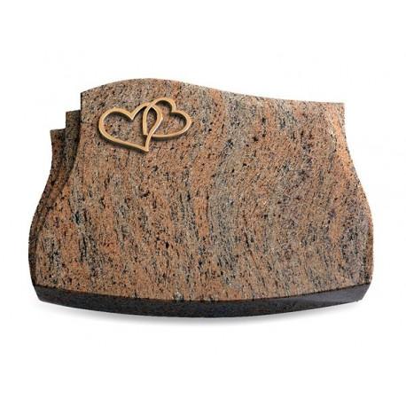 72 Grabstein Liberty/Raw Silk (Bronze Herzen)