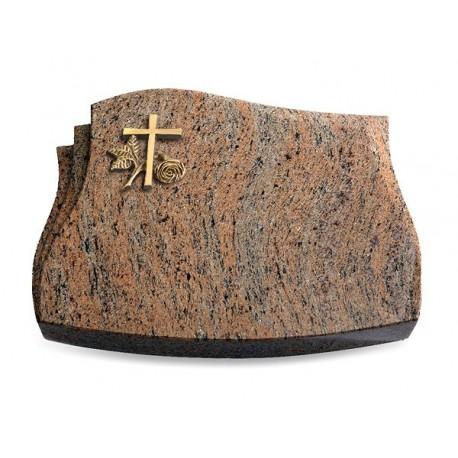 73 Grabstein Liberty/Raw Silk (Bronze Kreuz 1)