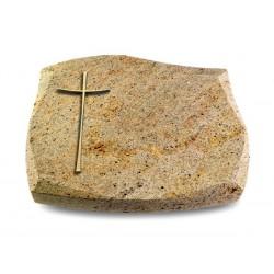 103 Grabstein Galaxy/Kashmir (Bronze Kreuz 2)