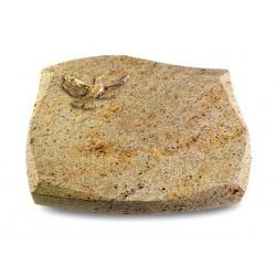 107 Grabstein Galaxy/Kashmir (Bronze Taube)