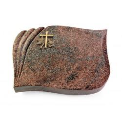 138 Grabstein Eterna/Paradiso (Bronze Kreuz 1)