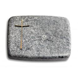 172 Grabstein Linea/Viskont White (Bronze Kreuz 2)