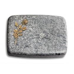 176 Grabstein Linea/Viskont White (Bronze Rose 13)