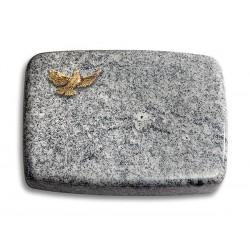 177 Grabstein Linea/Viskont White (Bronze Taube)
