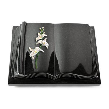 22 Grabbuch Antique/Indisch Black (Color Orchidee)