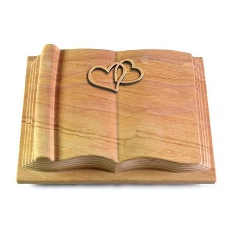 50 Grabbuch Antique/Rainbow (Bronze Herzen)