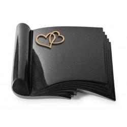 76 Grabbuch Prestige/Indisch Black (Bronze Herzen)