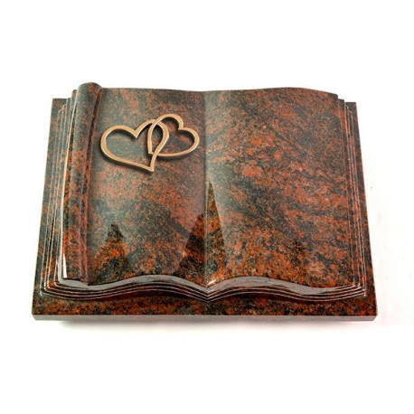 Grabbuch Antique/Aruba (Bronze Herzen)