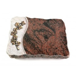 17 Grabplatte Wave/Aruba (Bronze Efeu)