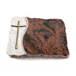18 Grabplatte Wave/Aruba (Bronze Kreuz 2)