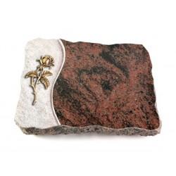 19 Grabplatte Wave/Aruba (Bronze Rose 2)