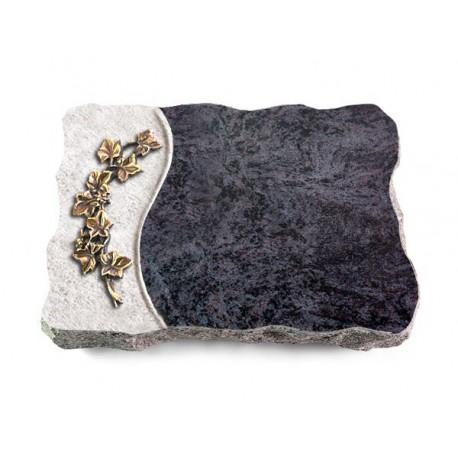 47 Grabplatte Wave/Orion (Bronze Efeu)