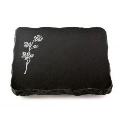 64 Grabplatte Indisch Black (Rose 2)