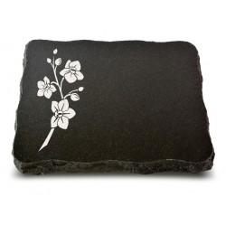 66 Grabplatte Indisch Black (Ökoline Blume 1)