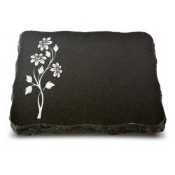 67 Grabplatte Indisch Black (Ökoline Blume 2)