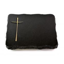 69 Grabplatte Indisch Black (Bronze Kreuz 2)
