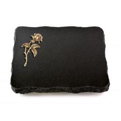 70 Grabplatte Indisch Black (Bronze Rose 2)