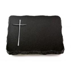 71 Grabplatte Indisch Black (Alu Kreuz 2)