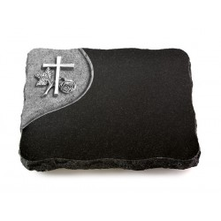 85 Grabplatte Folio/Indisch Black (Alu Kreuz 1)