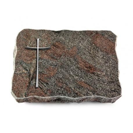 131 Grabplatte Paradiso (Alu Kreuz 2)