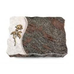 139 Grabplatte Wave/Paradiso (Bronze Rose 2)