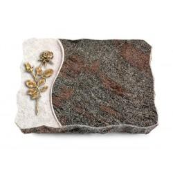 140 Grabplatte Wave/Paradiso (Bronze Rose 13)