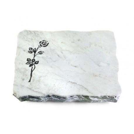 154 Grabplatte Marmor (Rose 2)