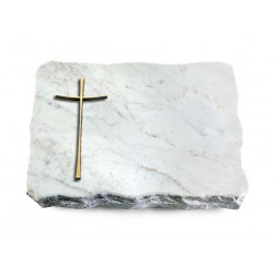 159 Grabplatte Marmor (Bronze Kreuz 2)