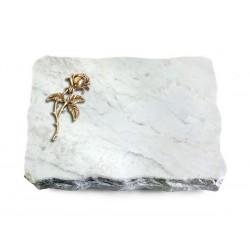 160 Grabplatte Marmor (Bronze Rose 2)