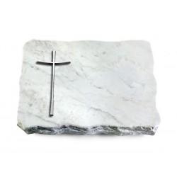 161 Grabplatte Marmor (Alu Kreuz 2)