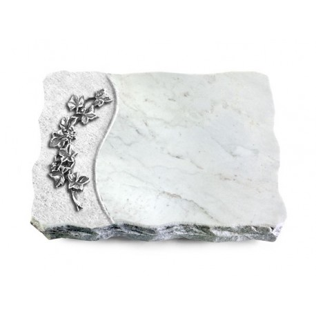 163 Grabplatte Wave/Marmor (Alu Efeu)