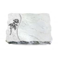 165 Grabplatte Wave/Marmor (Alu Rose 2)
