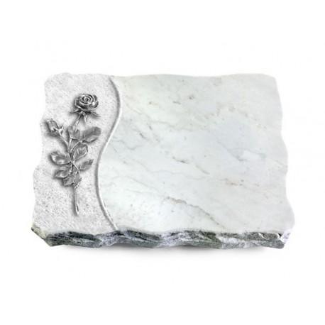 166 Grabplatte Wave/Marmor (Alu Rose 13)