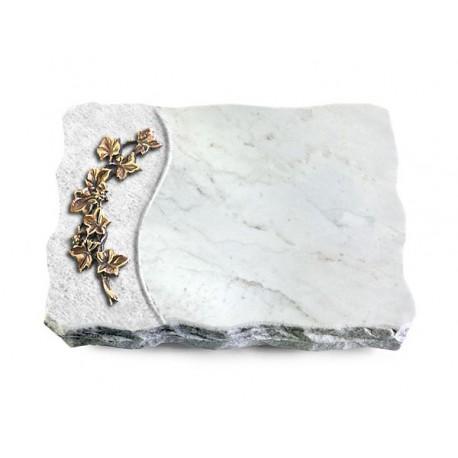 167 Grabplatte Wave/Marmor (Bronze Efeu)