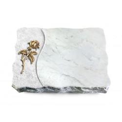 169 Grabplatte Wave/Marmor (Bronze Rose 2)