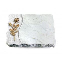 170 Grabplatte Wave/Marmor (Bronze Rose 13)