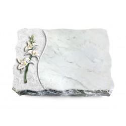 171 Grabplatte Wave/Marmor (Color Orchidee)