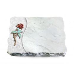 172 Grabplatte Wave/Marmor (Color Rose 2)