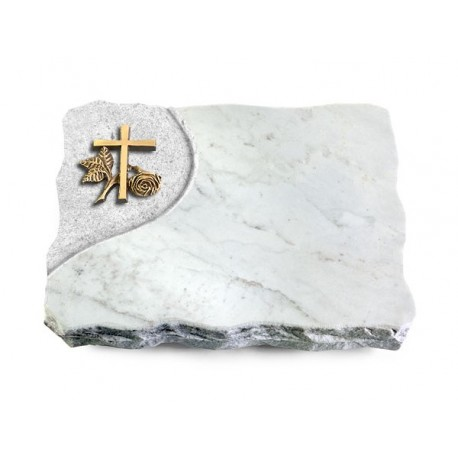 178 Grabplatte Folio/Marmor (Bronze Kreuz 1)