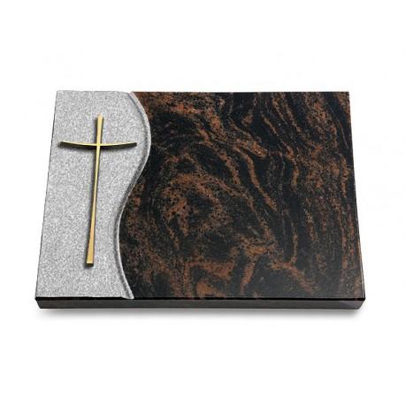 18 Grabtafel Wave/Aruba (Bronze Kreuz 2)