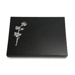64 Grabtafel Indisch Black (Rose 2)