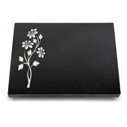 67 Grabtafel Indisch Black (Ökoline Blume 2)