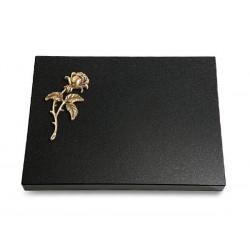 70 Grabtafel Indisch Black (Bronze Rose 2)