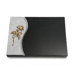 79 Grabtafel Wave/Indisch Black (Bronze Rose 2)