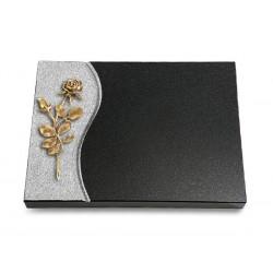 80 Grabtafel Wave/Indisch Black (Bronze Rose 13)