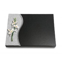 81 Grabtafel Wave/Indisch Black (Color Orchidee)