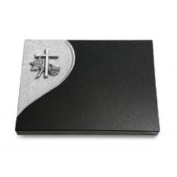 85 Grabtafel Folio/Indisch Black (Alu Kreuz 1)